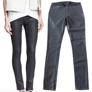 HELMUT LANG Leather-Like Stretch Leggings - Sz 28